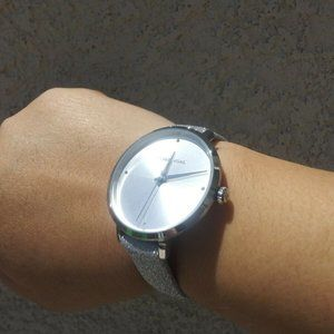 Michael Kors Silver Glittered Women's Watch